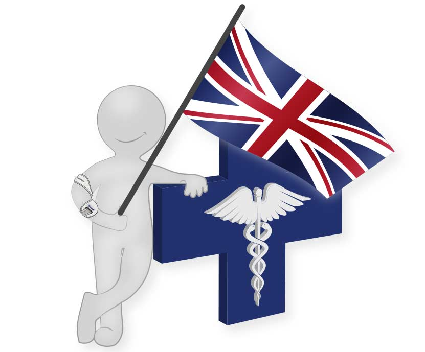 Masalo Medical Man with UK flag Great Britain